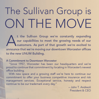 Sullivan Group relocates Worcester Headquarters